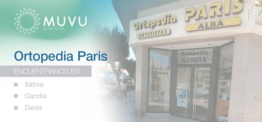 MUVU en  Ortopedia París en Xàtiva, Gandía y Dénia