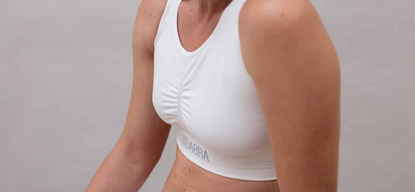 Vidabra, the top that accompanies women during breast radiation therapy