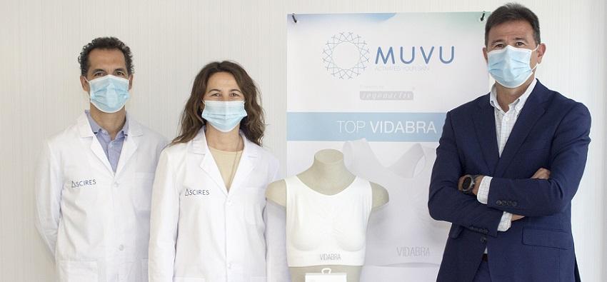 Expertos textiles y oncólogos radioterápicos crean un sujetador contra la radiodermitis en cáncer de mama